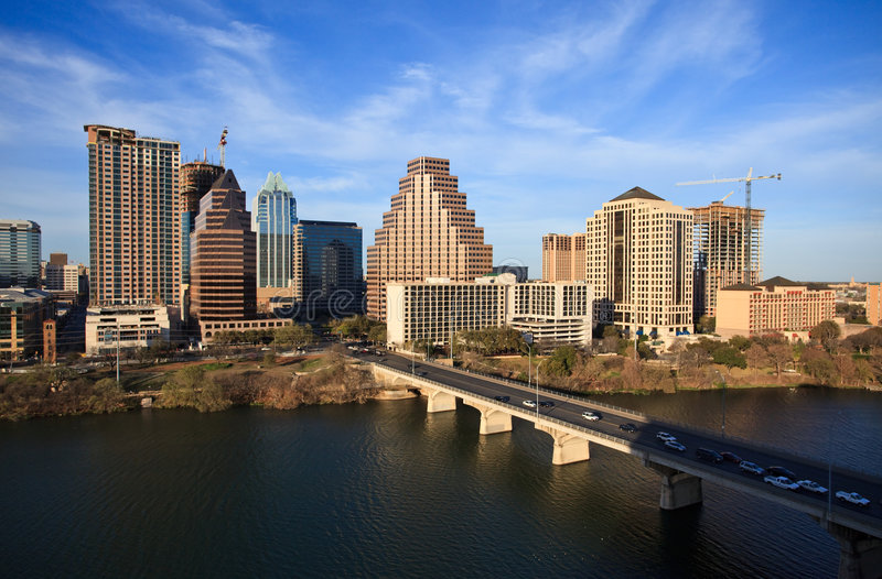Austin le Texas du centre images libres de droits