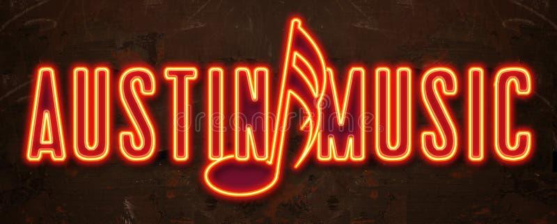 Austin Music Festival Neon Sign illustration libre de droits