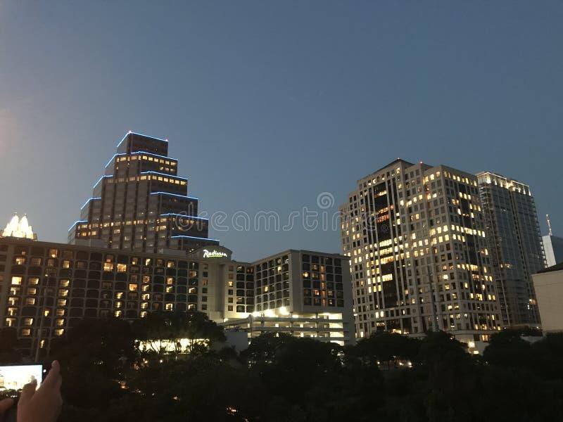 Austin Night fotografie stock libere da diritti