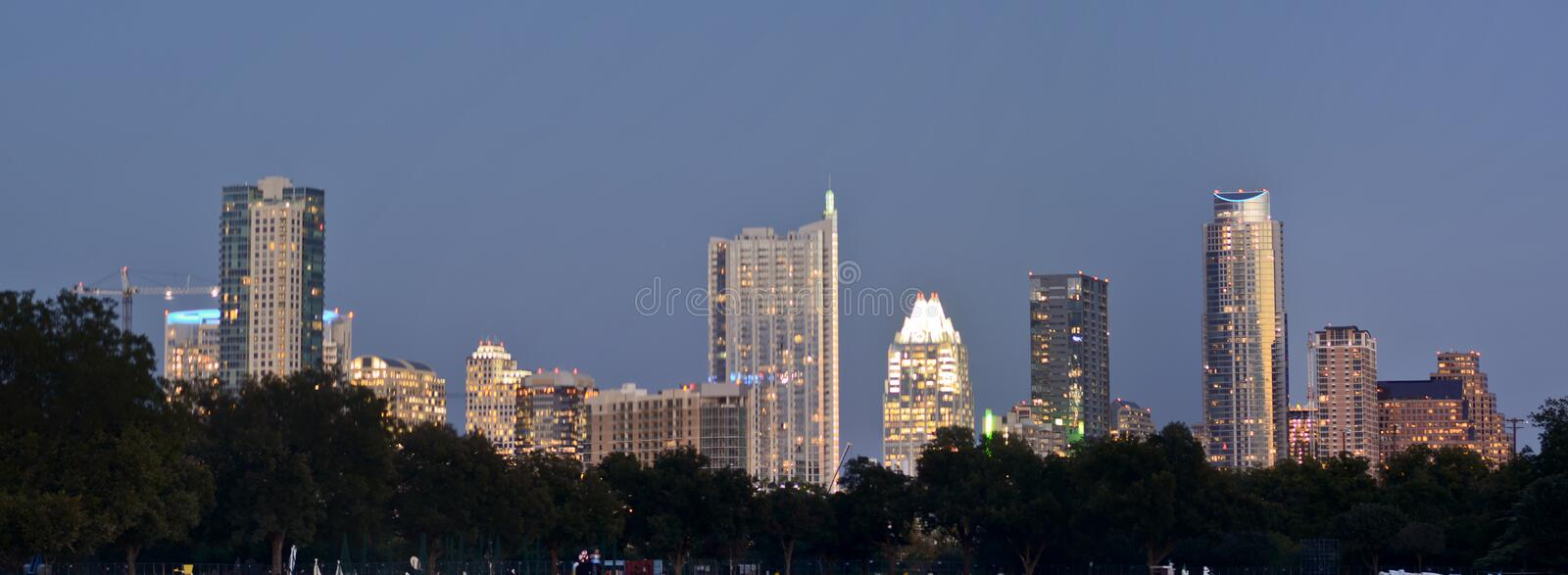 Austin by night stock images