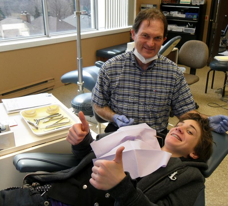 Austin at the orthodontist stock photography