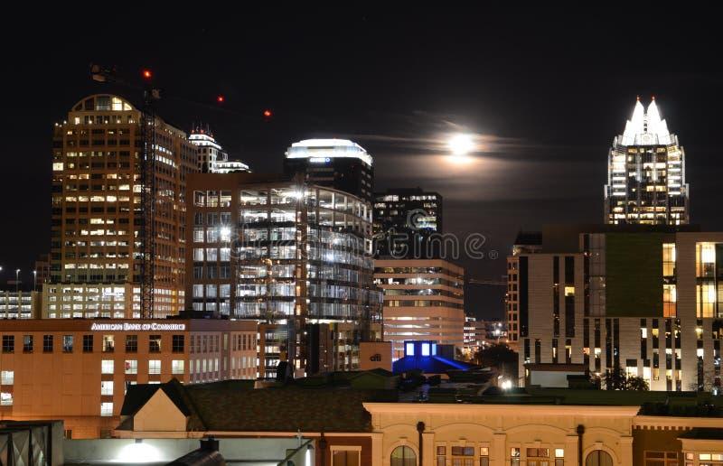 Austin por noche fotografía de archivo