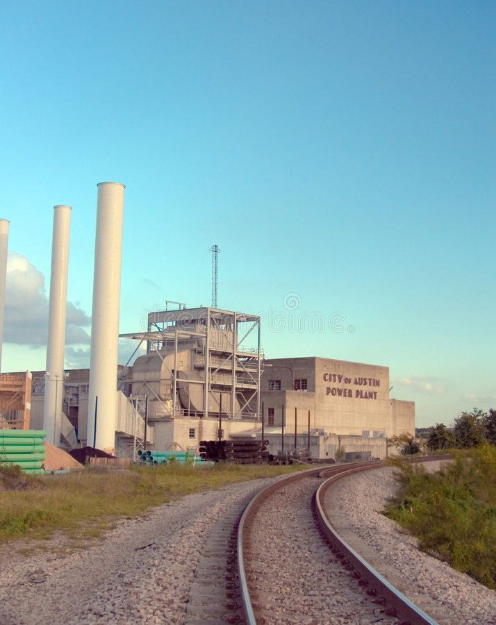 Austin power plant stock image