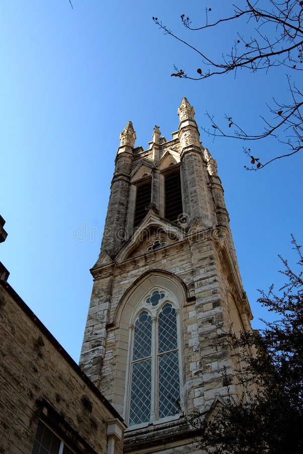 Austin Saint Mary Cathedral stock photography
