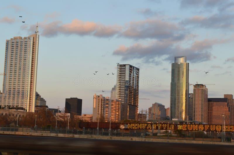 Austin Skyline fotografering för bildbyråer