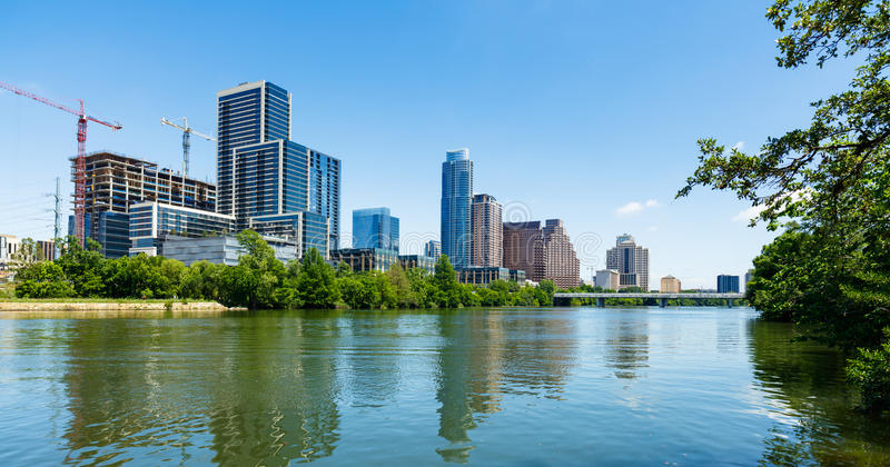 Austin Skyline céntrico fotos de archivo