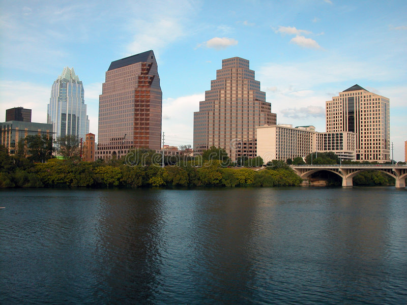 Austin Skyline mid day stock image