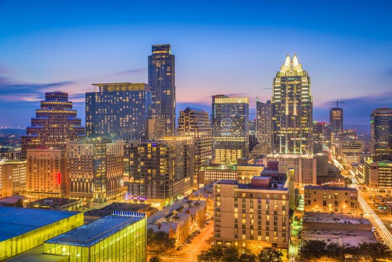 Austin, Skyline Texas, USA lizenzfreie stockbilder