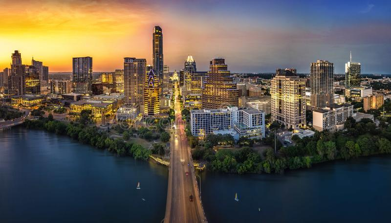 Austin State Capitol. During bluehour royalty free stock image