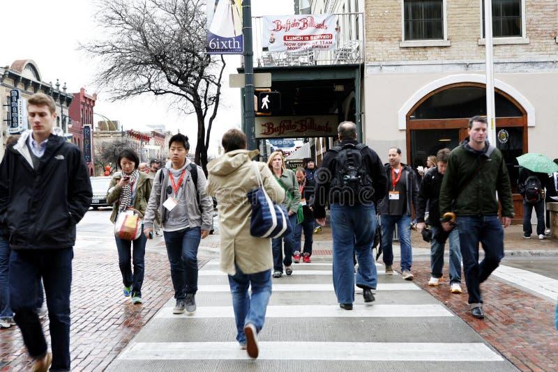 Austin, Teksas, sławna 6th ulica obraz royalty free