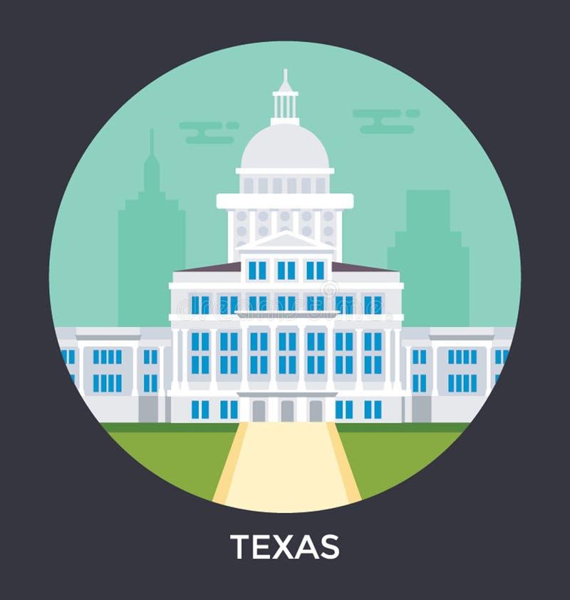Austin, Teksas, usa wektoru ikona ilustracja wektor