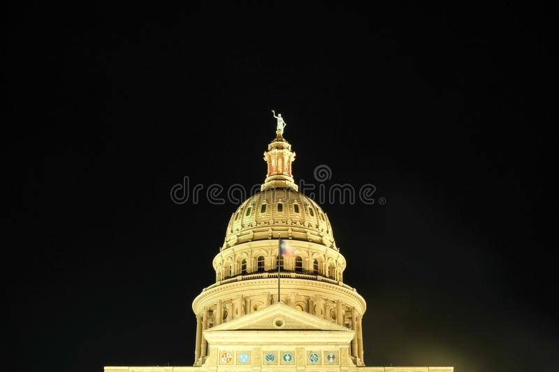 Front view of the capital building of Austin, Tx stock photography
