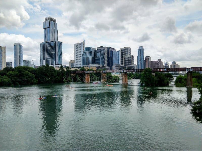 Austin Texas c?ntrico en un d?a soleado fotos de archivo libres de regalías