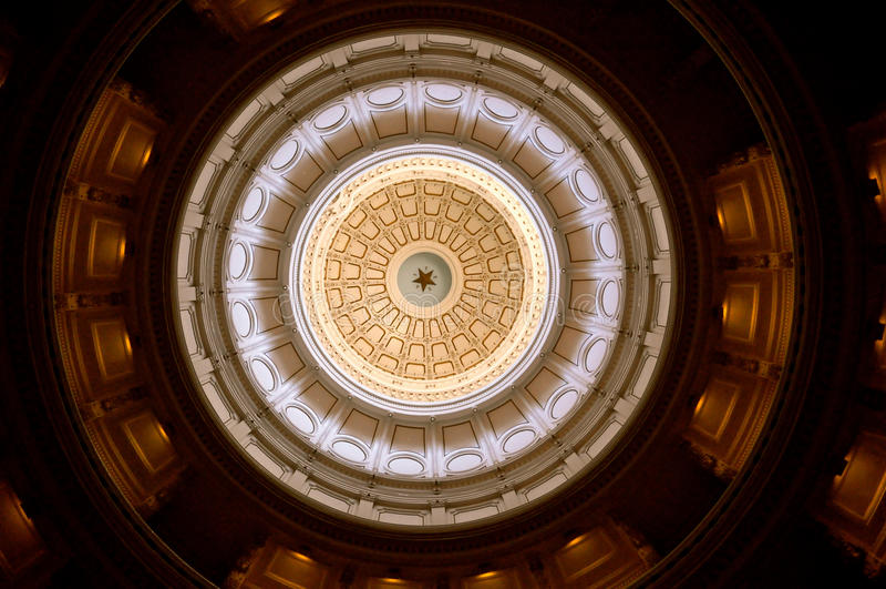 Austin Texas Capitol. Star Rotunda royalty free stock photo