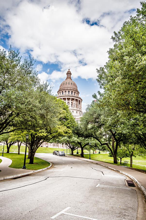 Austin texas city and state capitol building stock image