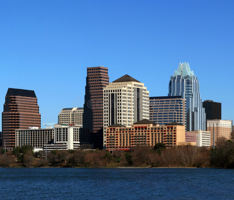 Austin Texas Cityscape van de binnenstad stock foto