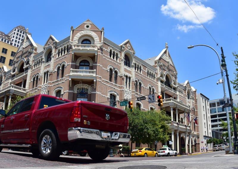 austin texas De Verenigde Staten van Amerika Augustus 2015 Zesde straat F royalty-vrije stock foto's