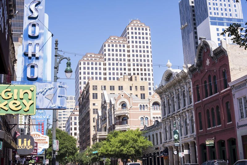 Austin Texas do centro EUA foto de stock royalty free