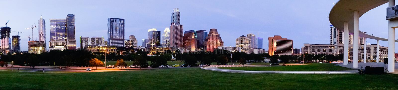 Austin Texas Downtown City Skyline Urban Architecture Panoramic royalty free stock photos