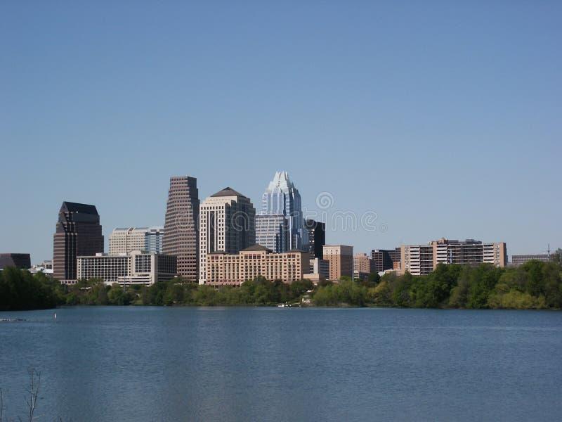Austin, Texas: Im Stadtzentrum gelegen stockfotografie