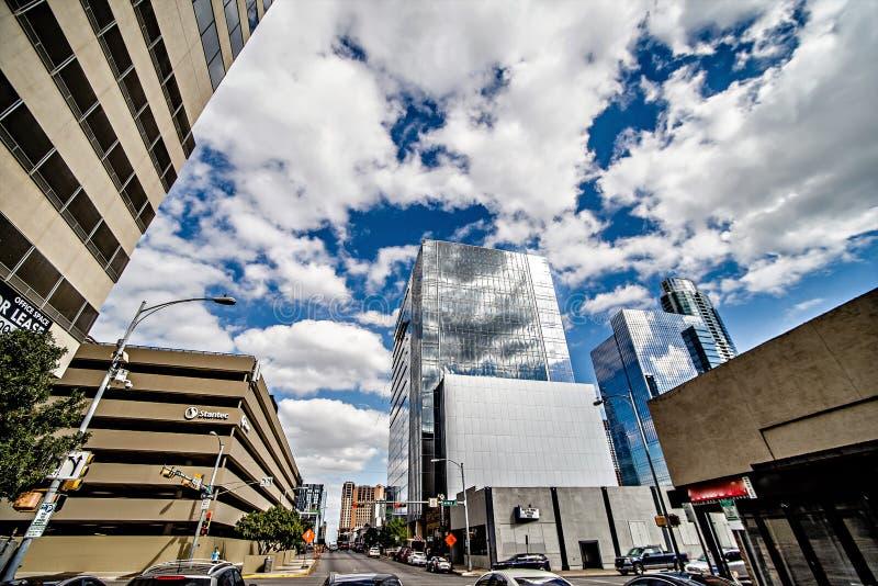 Austin Texas miasta linia horyzontu i miasto ulicy fotografia stock