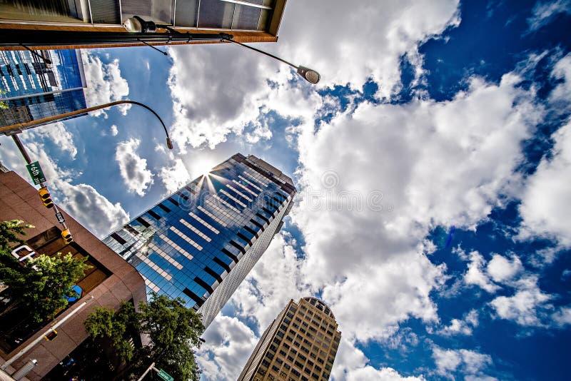 Austin Texas miasta linia horyzontu i miasto ulicy obraz stock