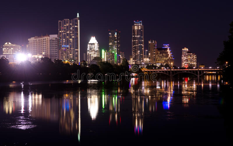 Austin Texas By Night Editorial Image