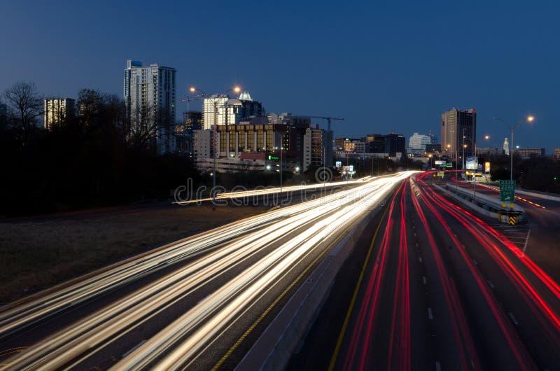 Austin Texas par nuit image libre de droits