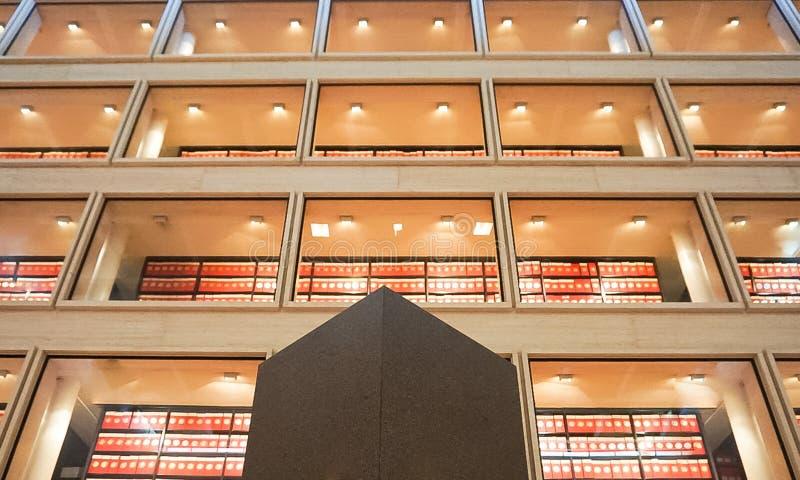 AUSTIN TEXAS-SEPTEMBER 17, 2017: Biblioteka w wielkiej hali przy Lyndon b Johnson LBJ biblioteką obrazy royalty free