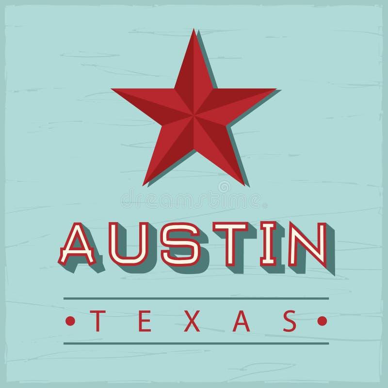 Austin Texas sign stock illustration