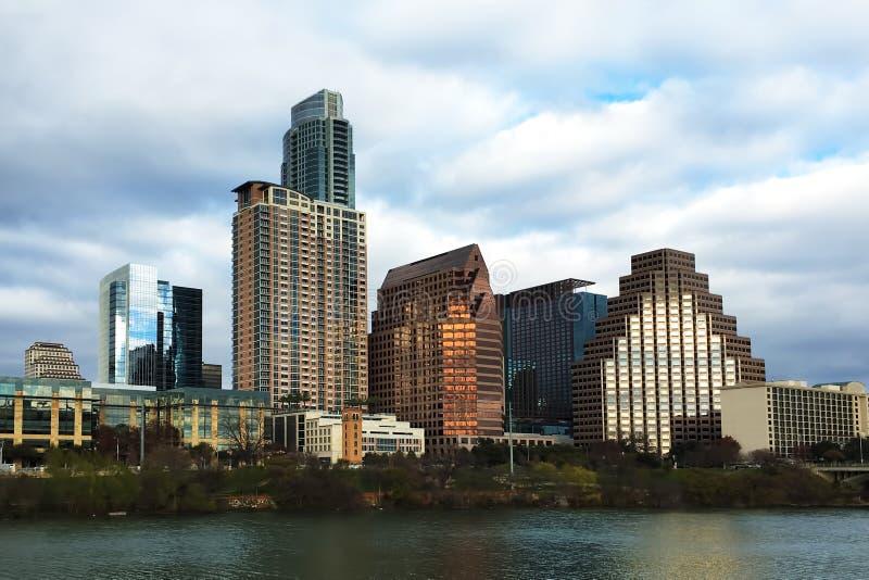 Austin, Texas, skyline no crepúsculo fotografia de stock royalty free