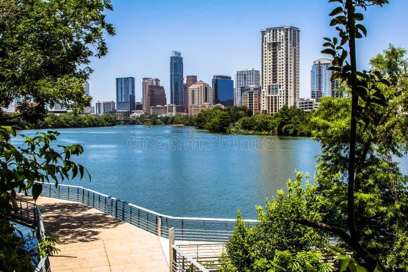 Austin Texas Trail avec la vue images libres de droits