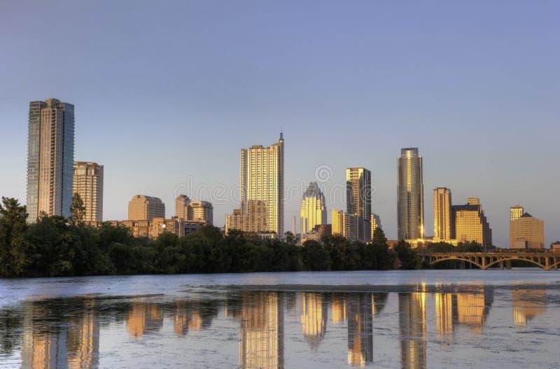 Austin, TX Skyline lizenzfreie stockfotos