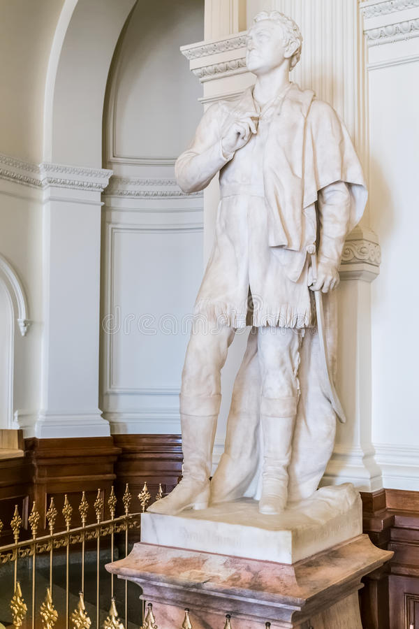 Austin, TX/USA - circa febbraio 2016: Sam Houston Statue Monument dentro Texas State Capitol in Austin, TX immagine stock