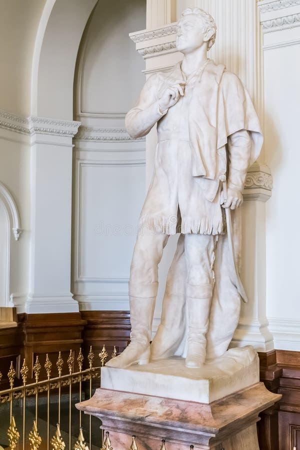 Austin, TX/USA - circa February 2016: Sam Houston Statue Monument inside Texas State Capitol in Austin, TX stock image