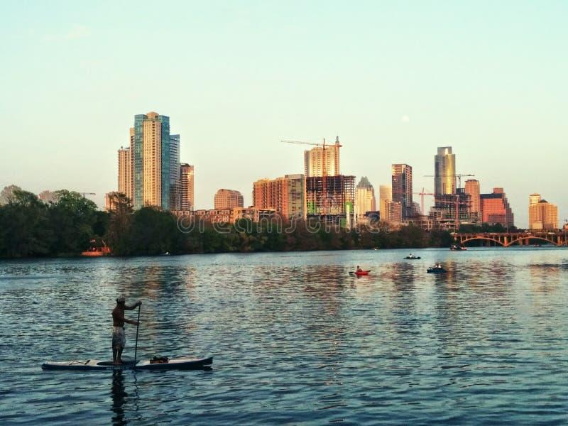Austin TX Van de binnenstad stock afbeelding