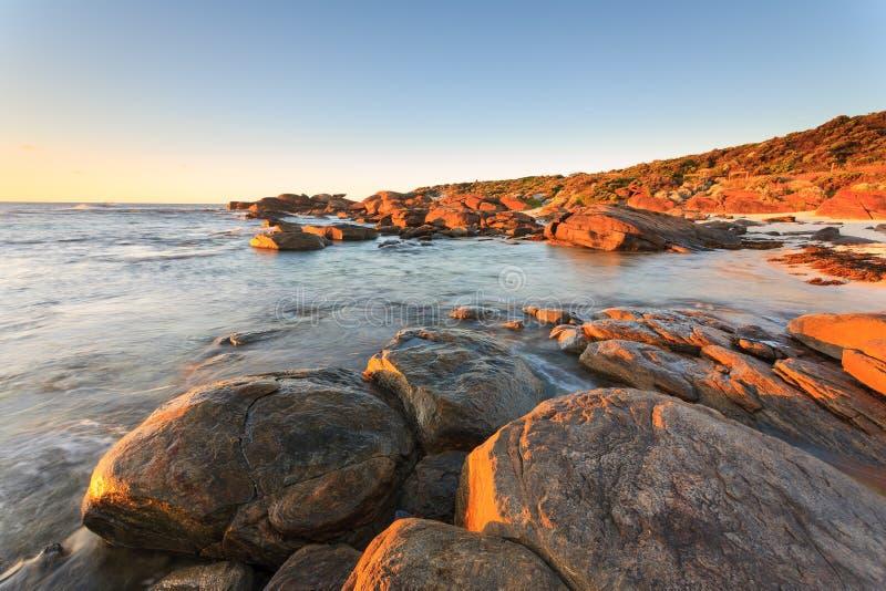 Austrália Ocidental da praia de Redgate imagem de stock