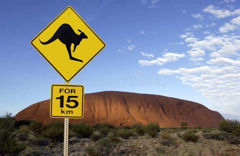 Austrália - rocha de Ayers foto de stock royalty free