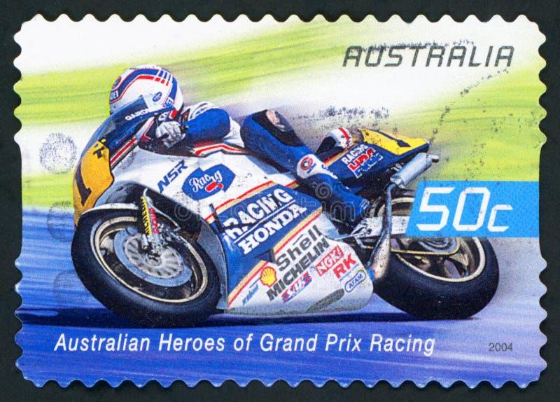 AUSTRÁLIA - selo postal imagem de stock