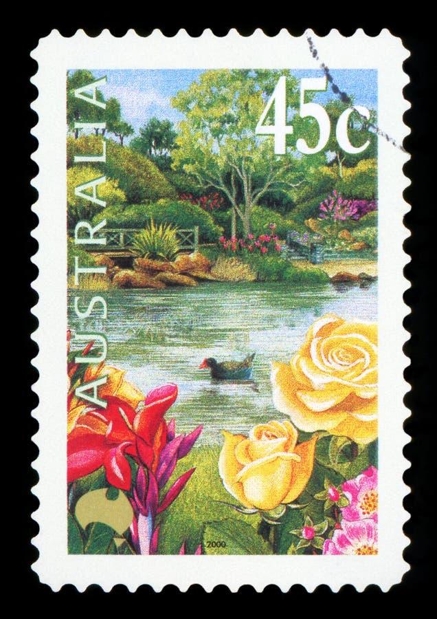 AUSTRÁLIA - selo postal imagens de stock royalty free