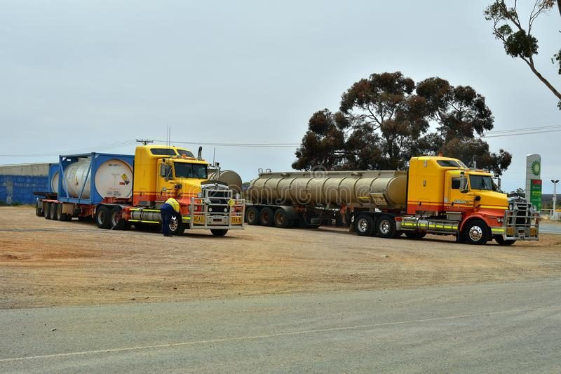 Austrália, Sul da Austrália, caminhão imagem de stock