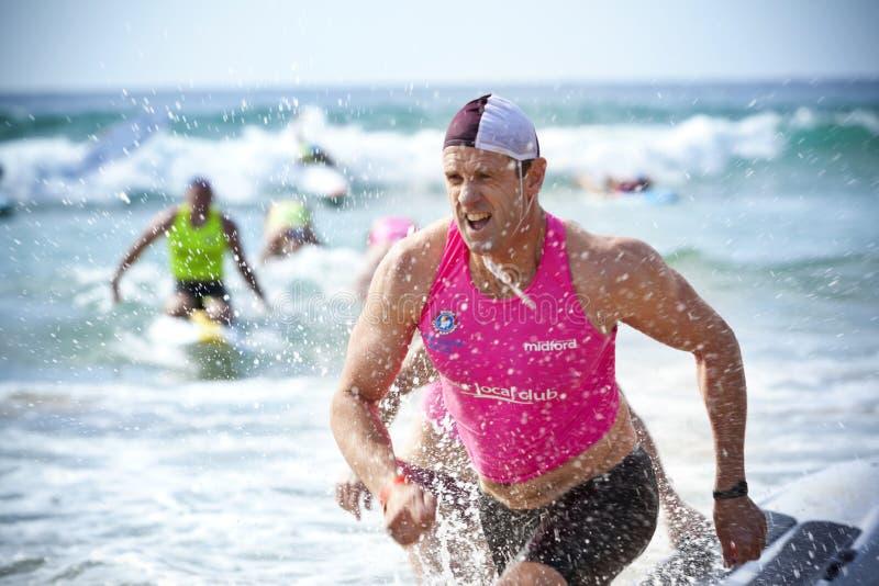 Austrália surfa a competição salva-vidas fotografia de stock