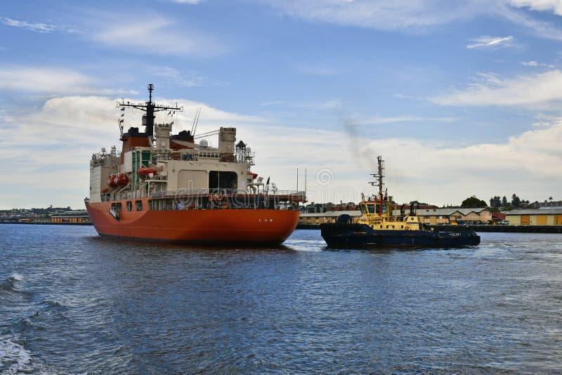 Austrália, WA, porto de Fremantle, enviando fotos de stock royalty free