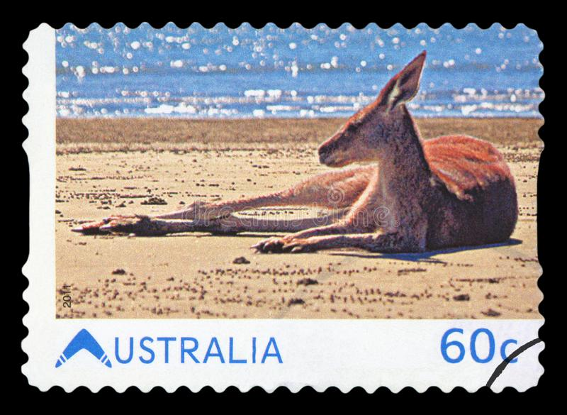 AUSTR?LIA - selo postal imagens de stock royalty free