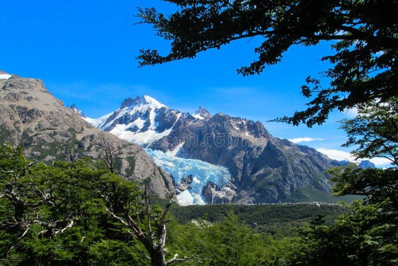 Austral Berge Anden und glaciar stockfotos