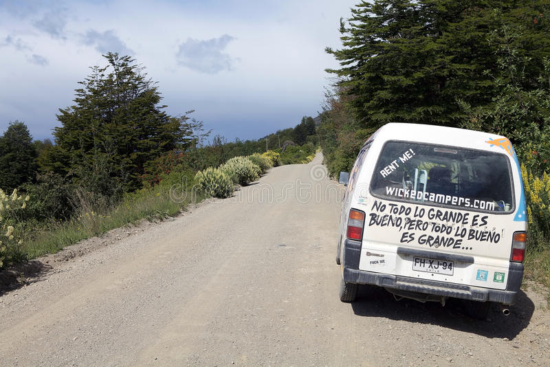 Austral Carretera, Patagonia, Chile arkivbild