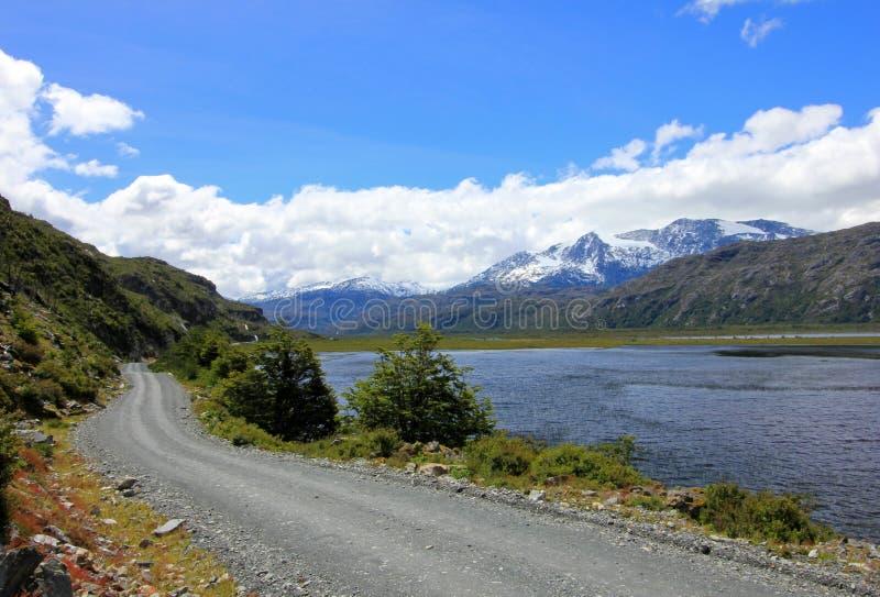 Austral Landstraße Carretera, Ruta 7, Chile lizenzfreie stockfotografie
