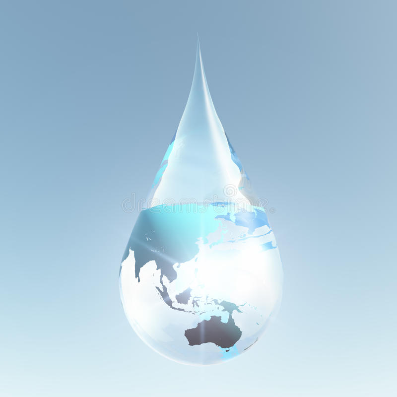 Australasia droplet royalty free illustration