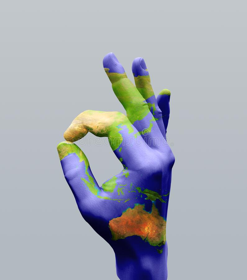 Australasia OK. Human hand model. Human elements were created with 3D software and are not from any actual human likenesses stock images