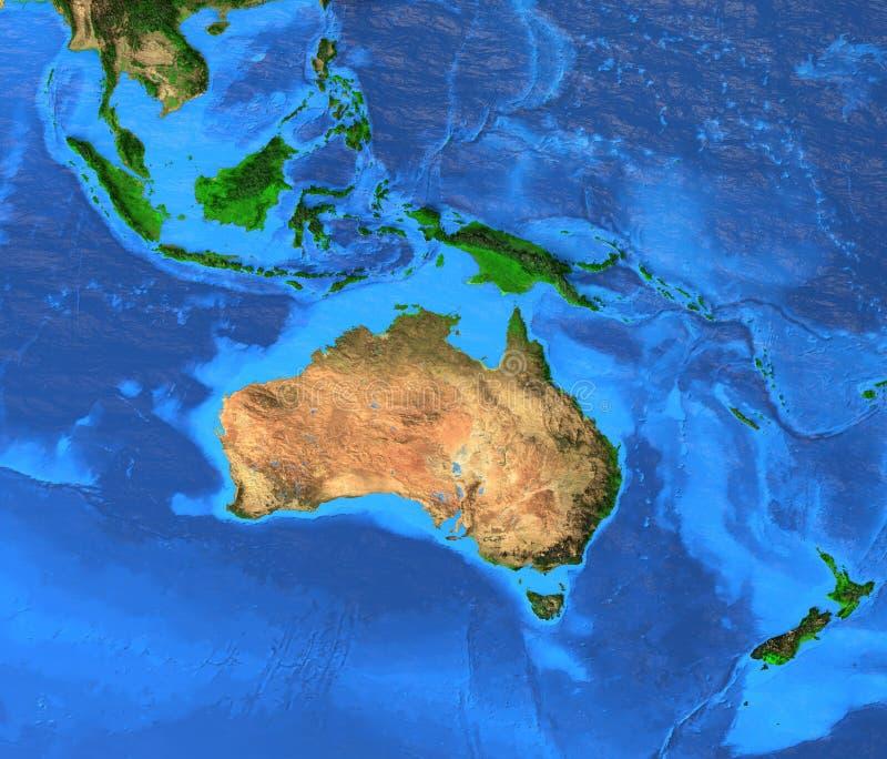 Australasien Oceanien - hög upplösningsöversikt vektor illustrationer